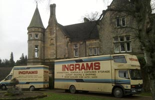 Ingram's vehicles at Dryderdale Hall move January 2012